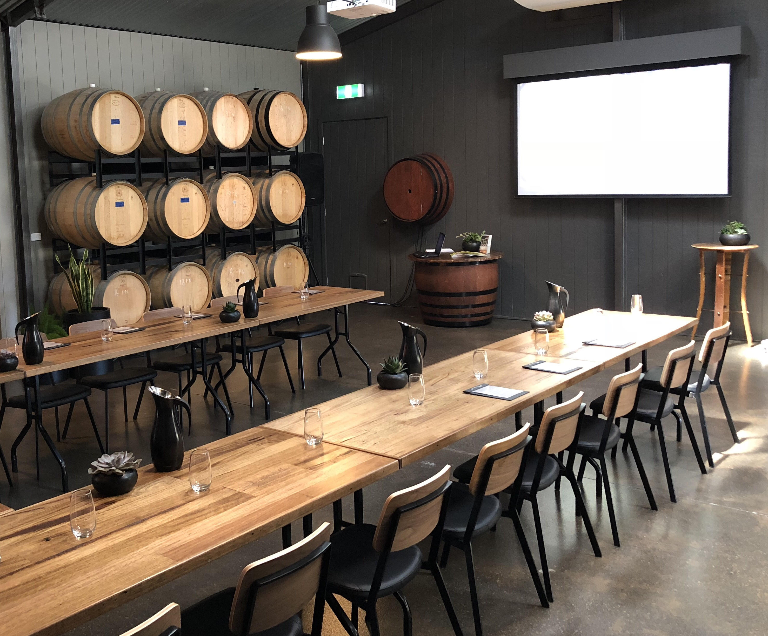 Corporate Function in the Barrel Room